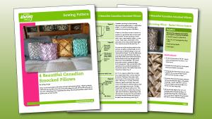 4 Beautiful Canadian Smocked Pillows