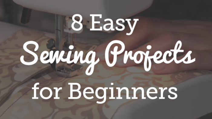 8 Beginner Sewing Projects
