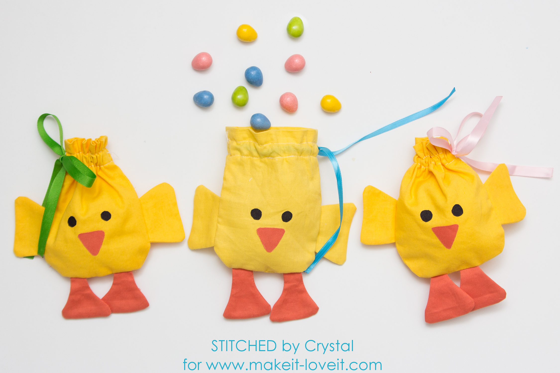 Spring Sewing Projects: Drawstring Chicks