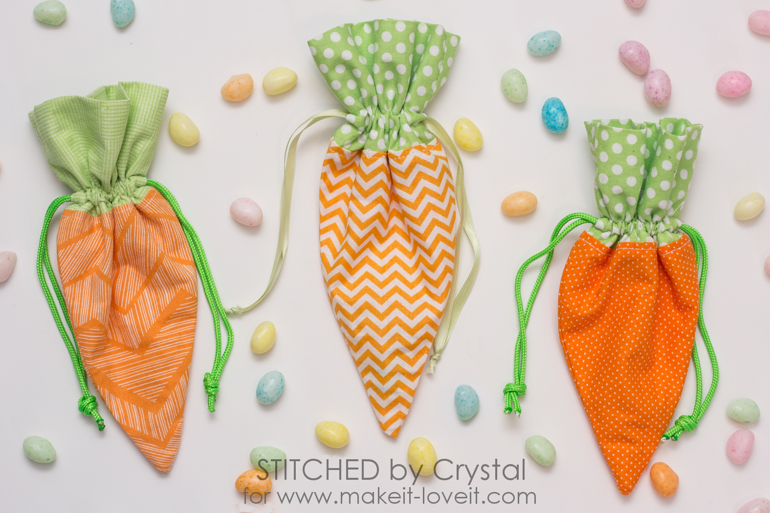 Spring Sewing Projects: Drawstring Carrots