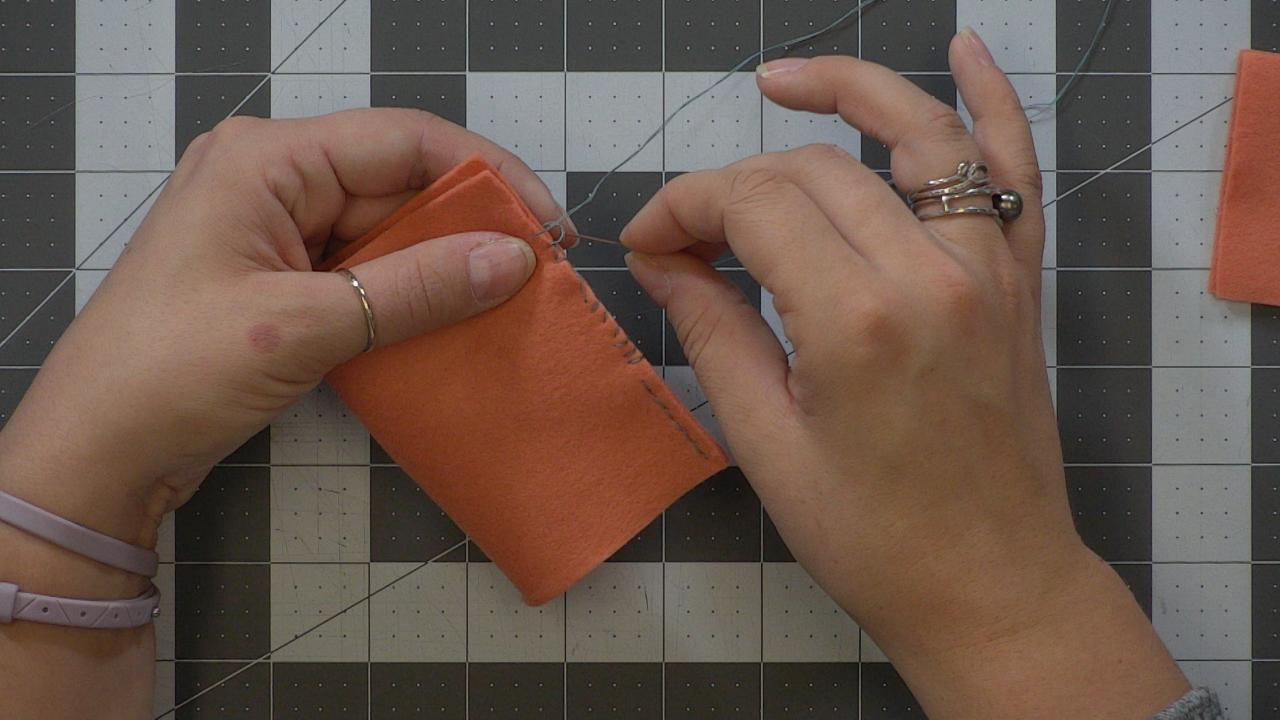 Working with Felt Session 3– Hand Stitches