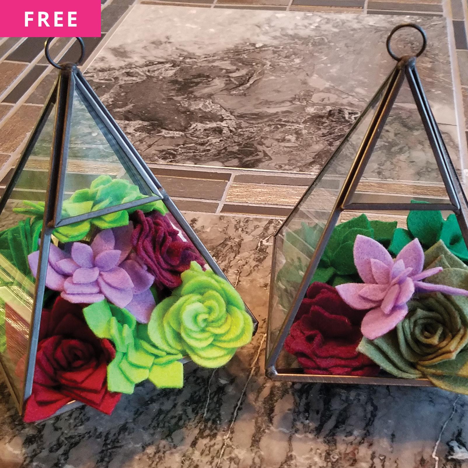 Free Sewing Pattern - Felt Succulent