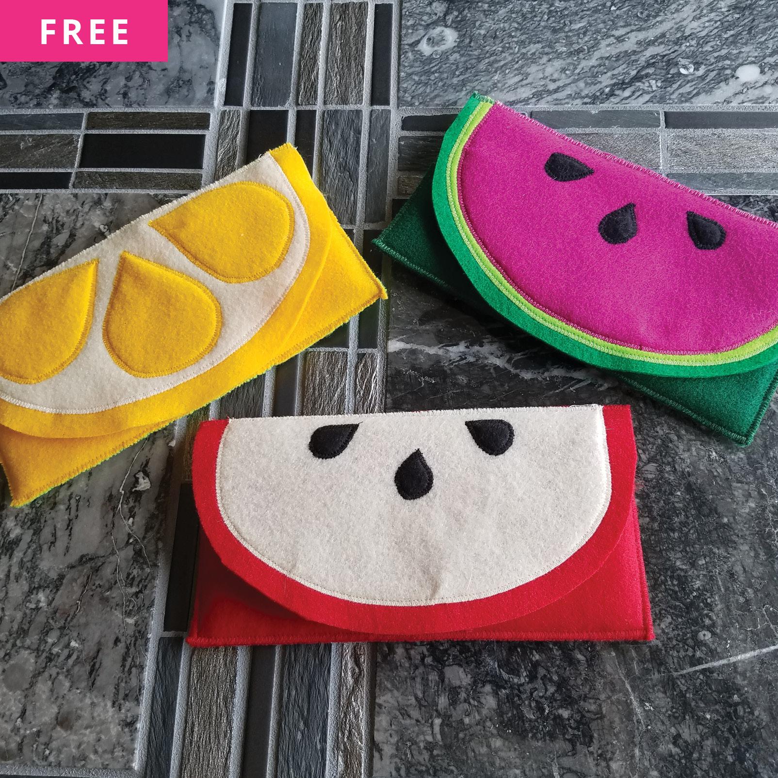 Free Sewing Pattern - Fruit Sunglasses Case