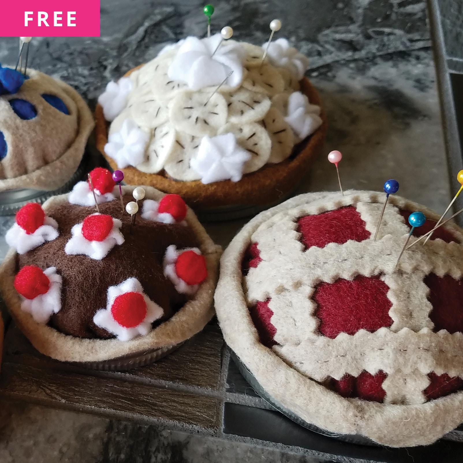 Free Sewing Pattern - Pincushion Pies