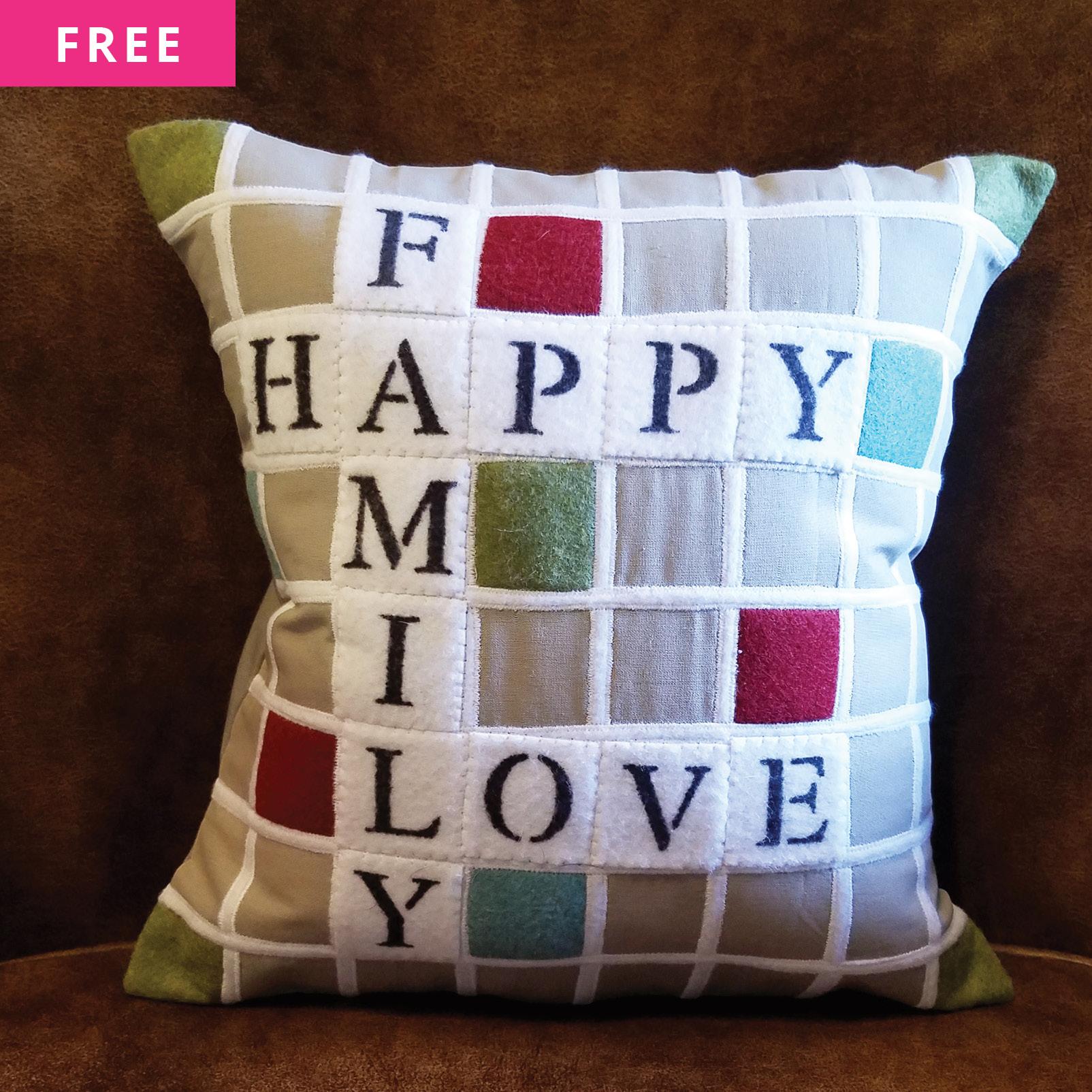 Free Sewing Pattern - Scrabble Board Pillow