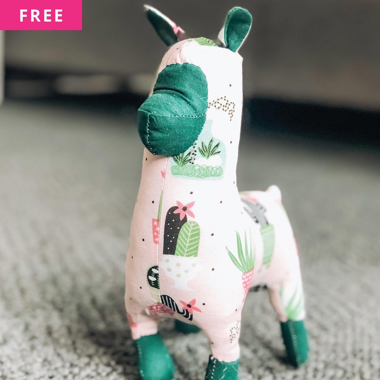 Free Sewing Pattern - Llama Stuffed Animal
