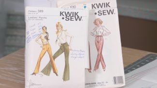 two commercial sewing patterns
