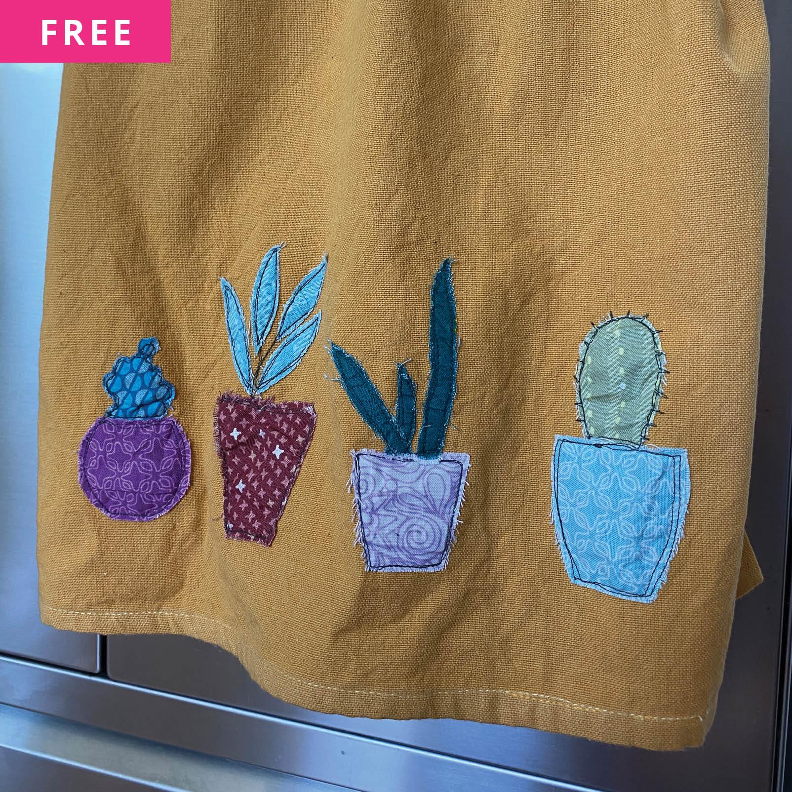 Free Sewing Pattern - Green Thumb Tea Towels
