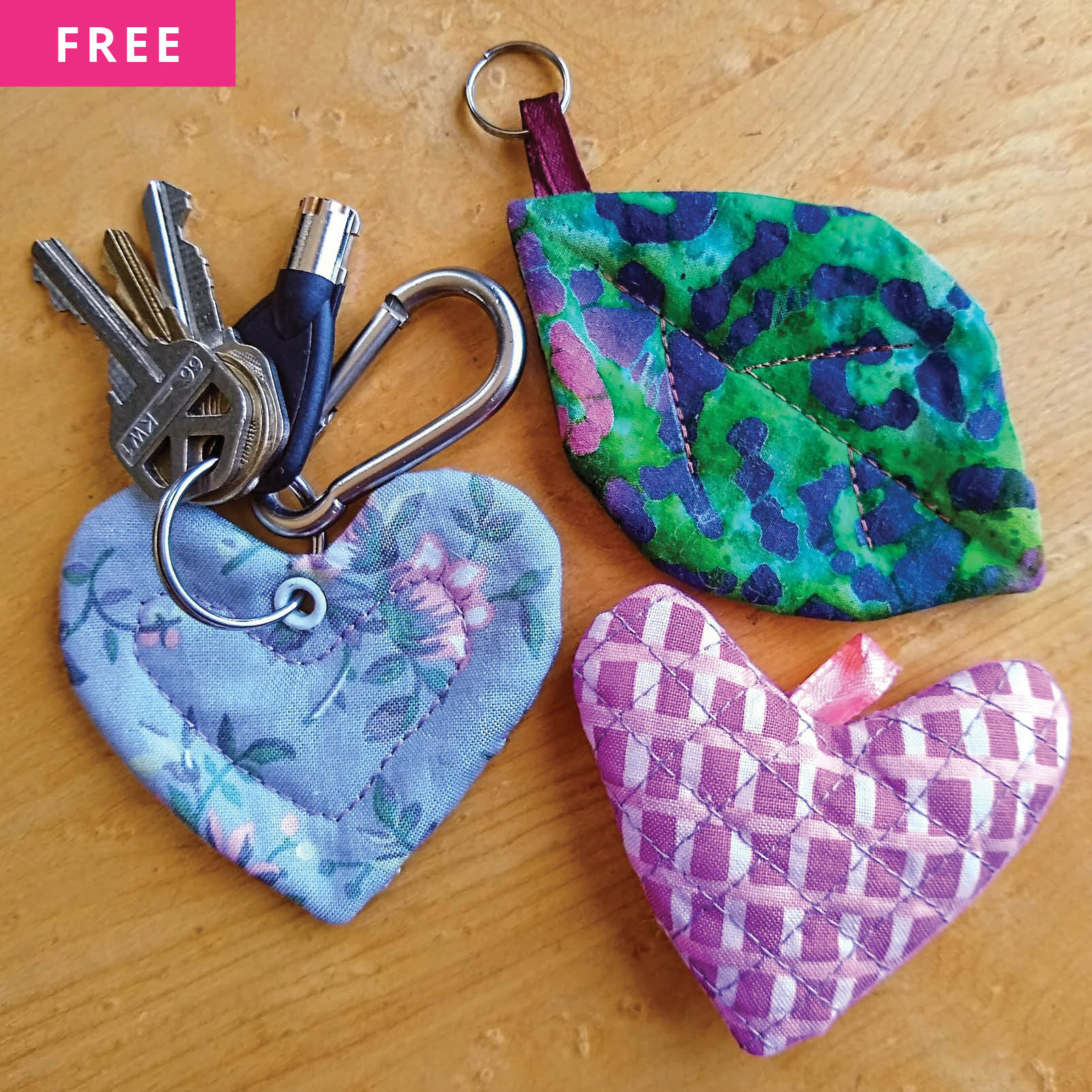 Free Sewing Pattern - Custom Keychain Charms