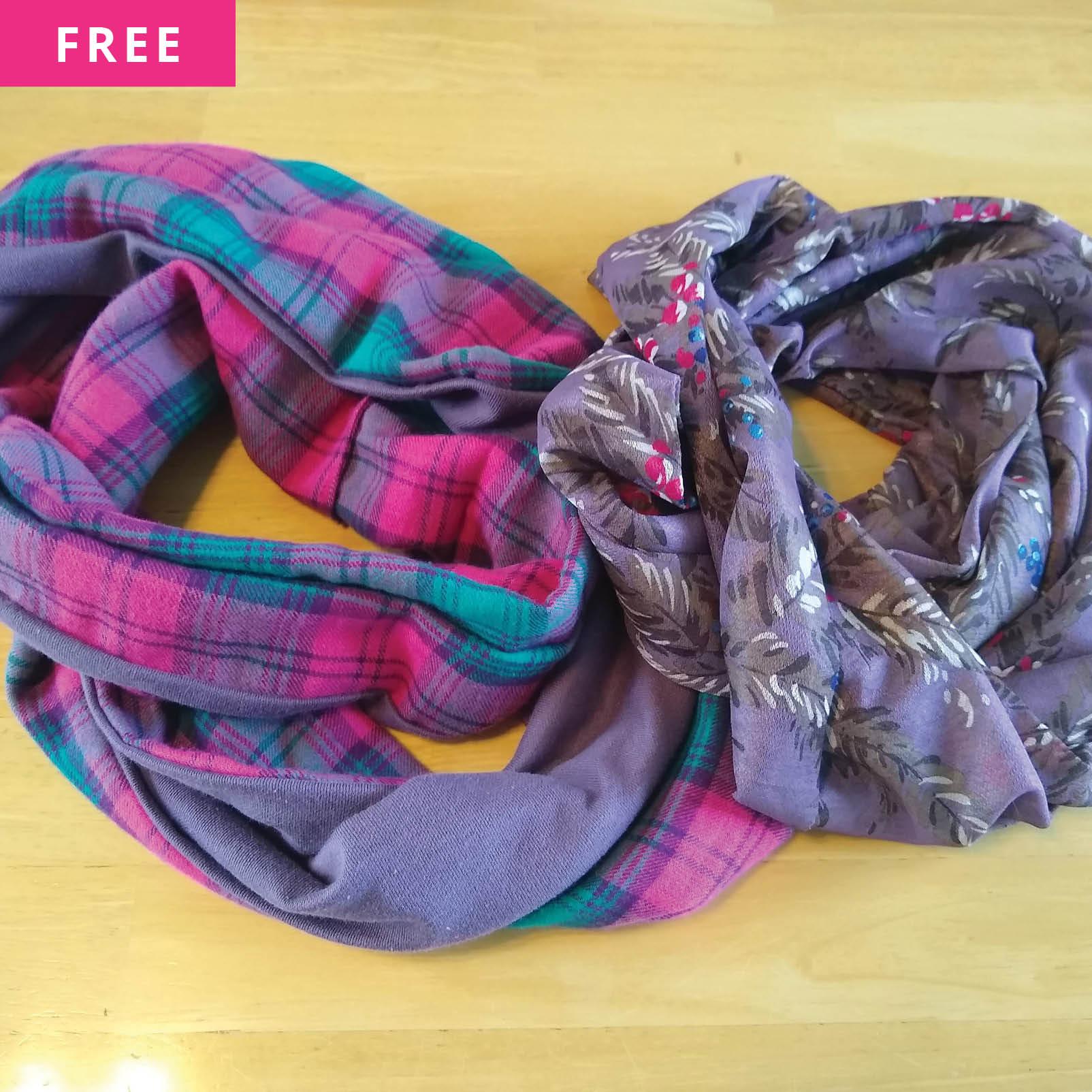 Free Sewing Pattern - Infinity Scarf: 2 Ways