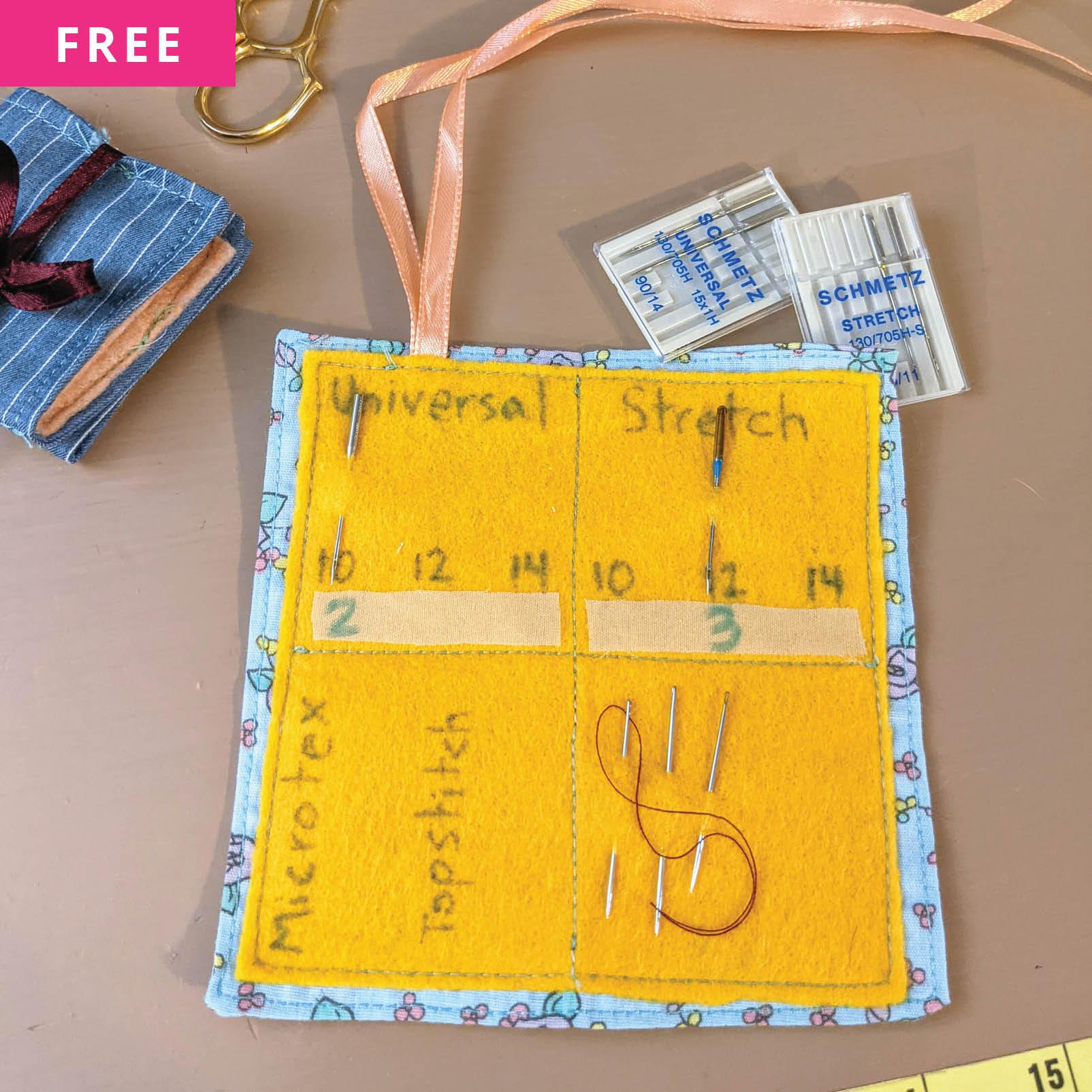 Free Sewing Pattern - Fold-Up Fabric Needle Holder