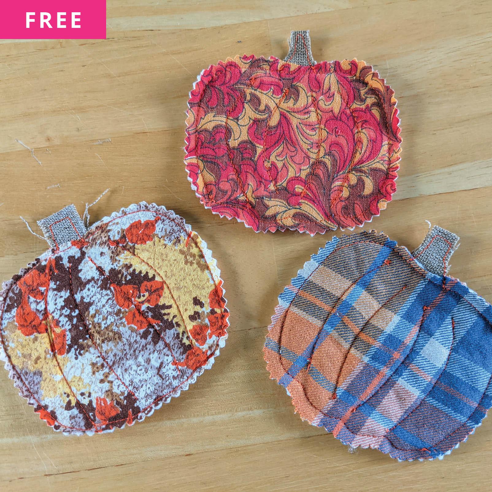 Free Sewing Pattern - Pumpkin Coasters