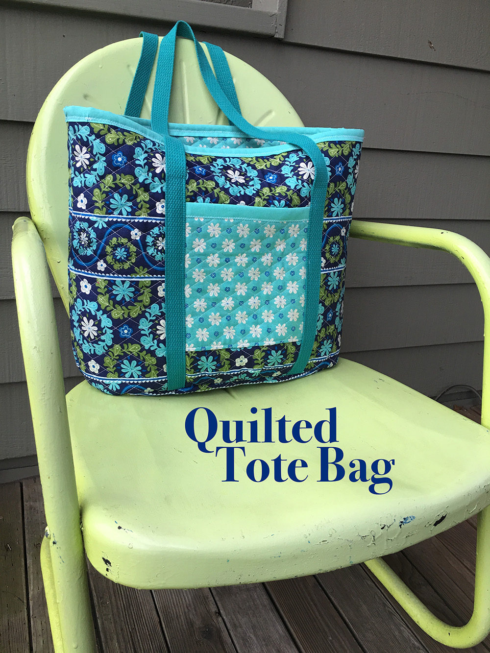 Sew a Quilted Fabric Tote Bag | National Sewing Circle : quilt tote bag - Adamdwight.com