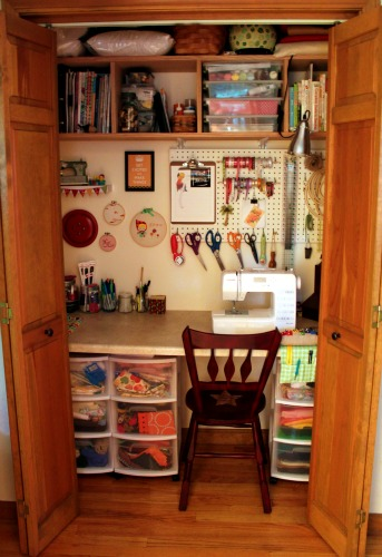 Wonderful Making The Most Of Your Space By Placing Storage Boxes Or Shelves Under  Tables And Hanging Items On The Wall Can Make Any Space Feel Larger. Sewing  Closet