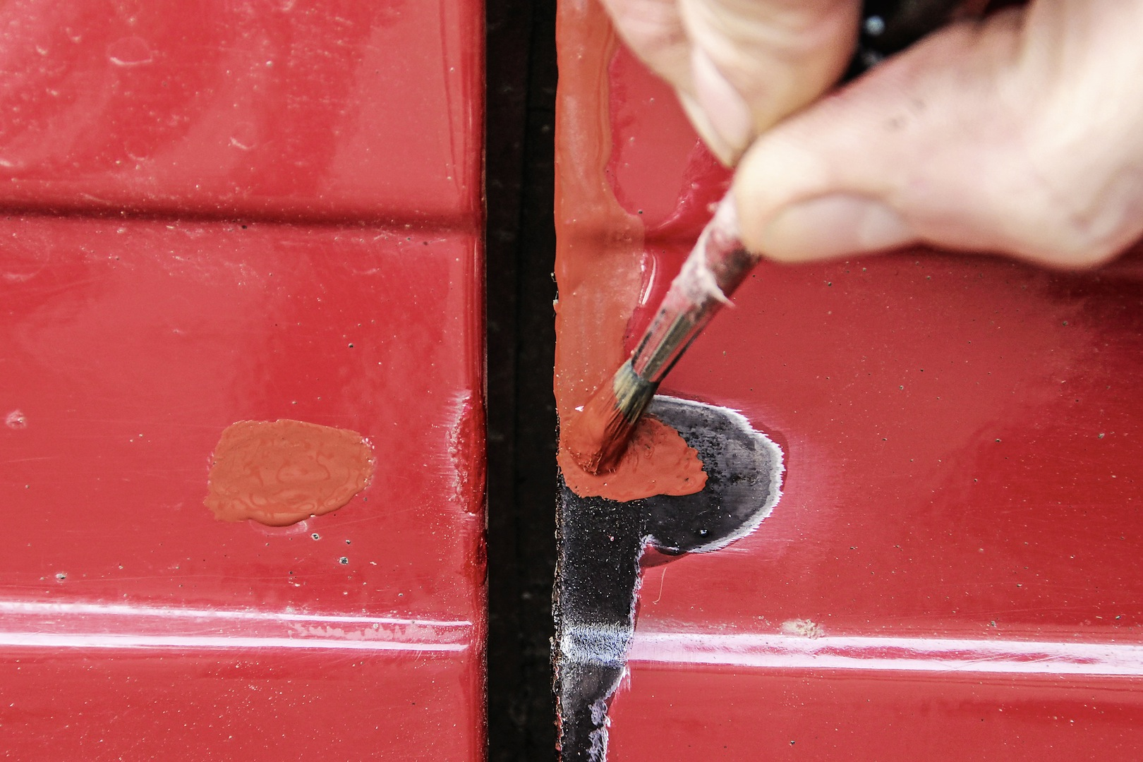 touching up damaged paint