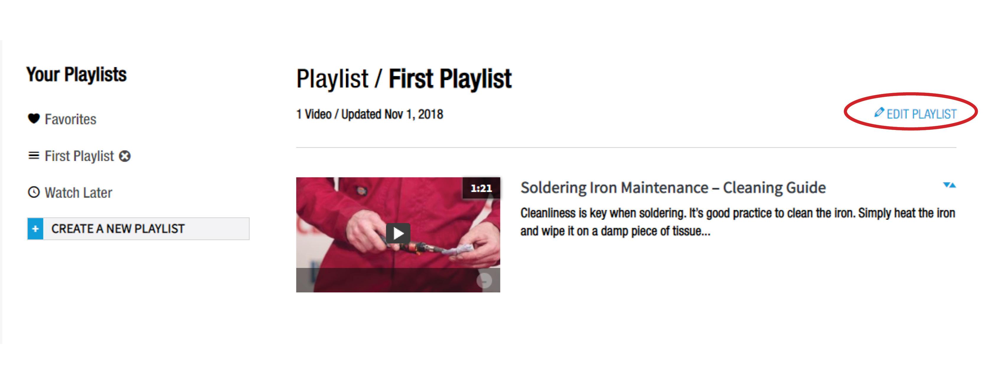 Edit a Playlist