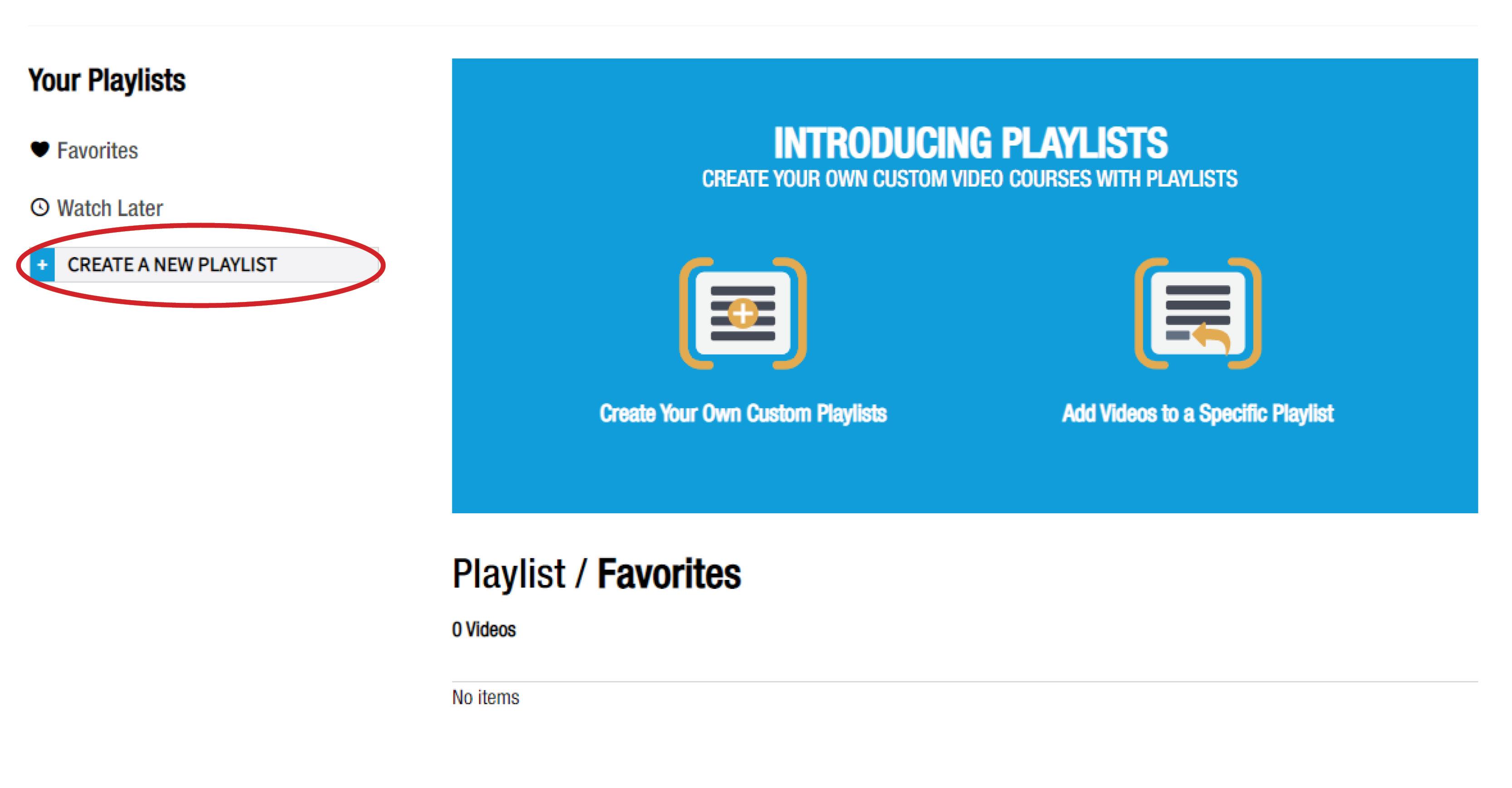 Create a Playlist