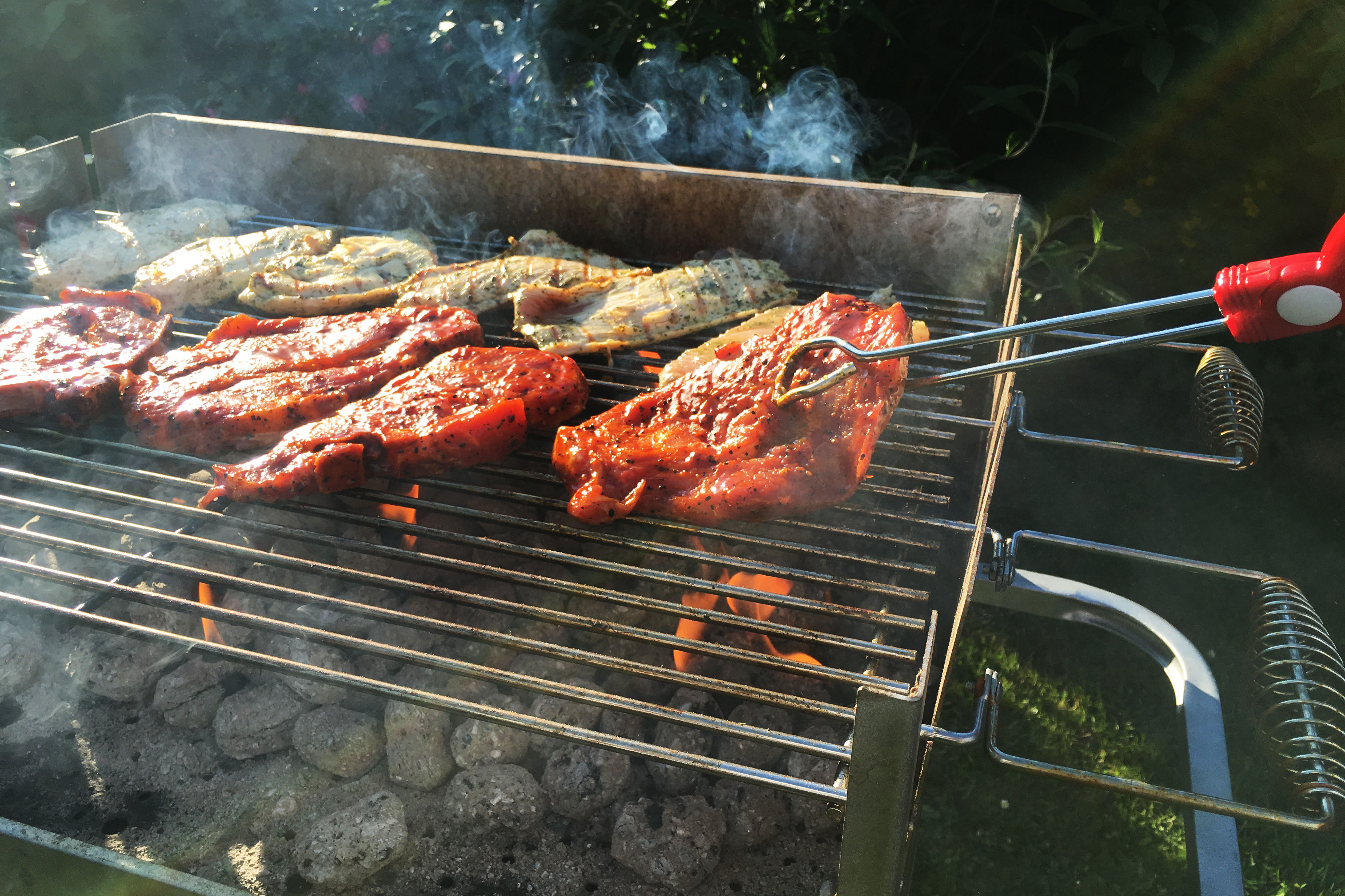 Barbecue on a grill