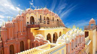 Hawa Mahal, the City Palace of Jaipur, and the Rambagh Palace Hotel in Jaipur, India with Rudy Maxa