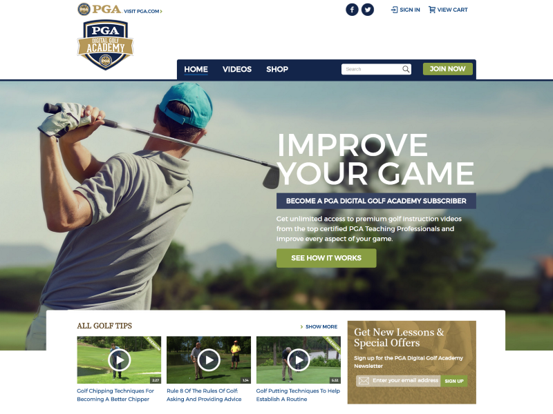 PGA Digital Golf Academy >>