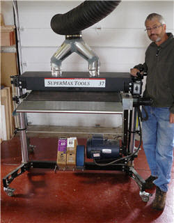 Reviewing the SuperMax 37-Inch Drum Sander