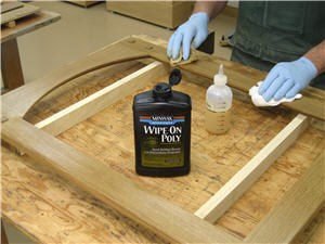 Using Minwax Water Based Wipe-On Poly