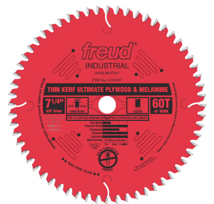 Reviewing the Freud LUK79R007 Circular Saw Blade