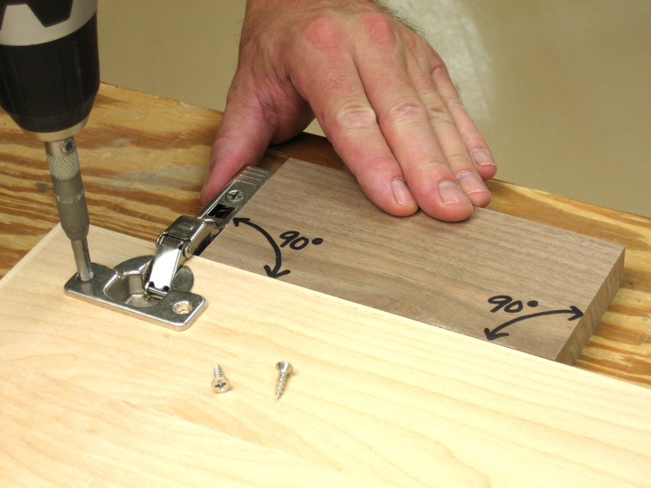 Easy European Hinge Mounting