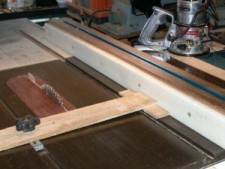 Table saw Fence Setup Jig
