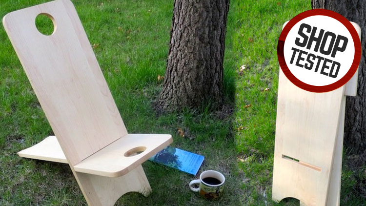 Carry-Along Wooden Camping Chair