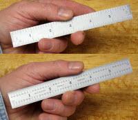 6x3/4 steel rule