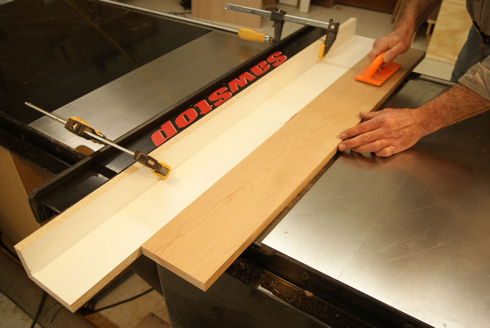 Jointing on a table saw