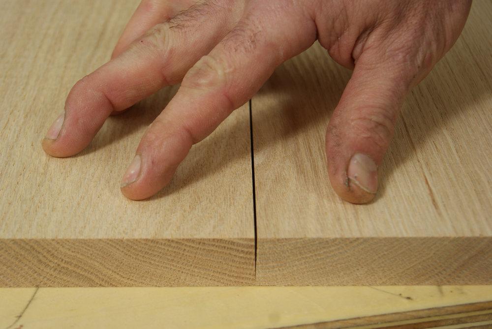 angled edge