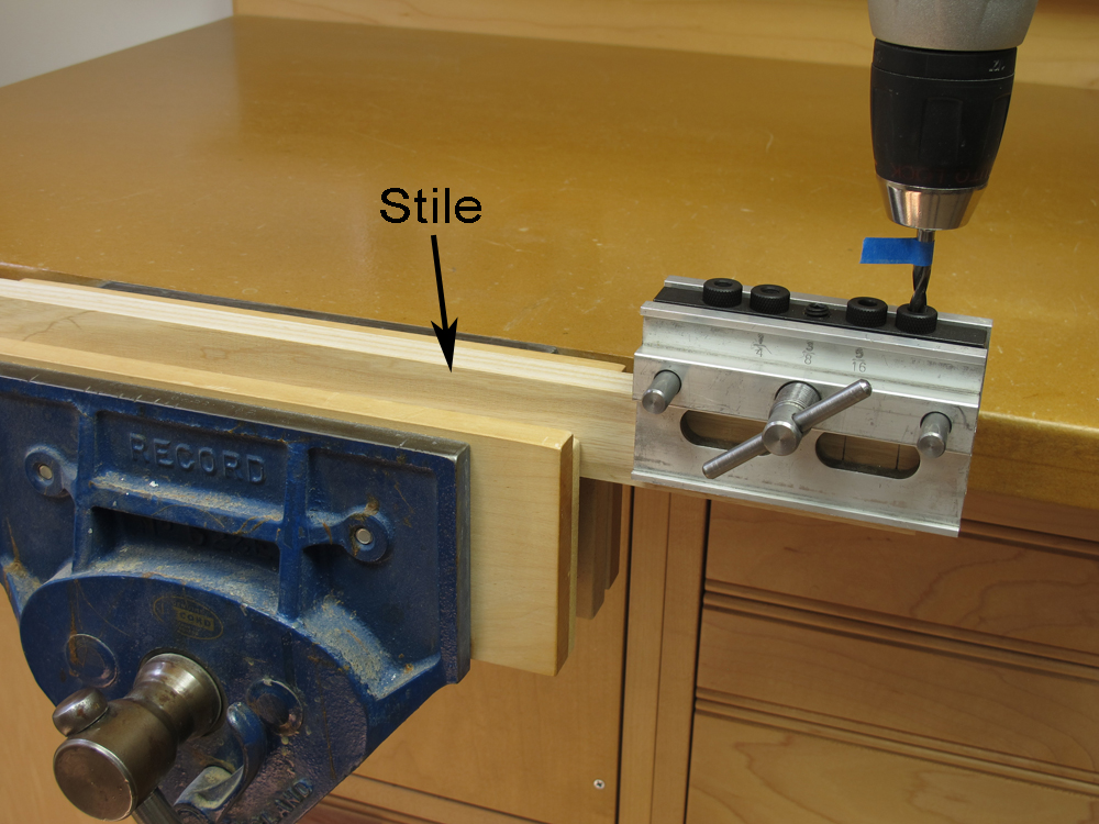 drilling dowel holes