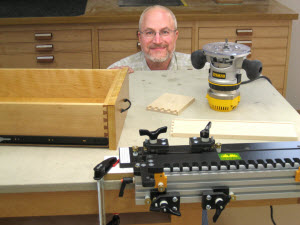 Routed Half-Blind Dovetail Drawers