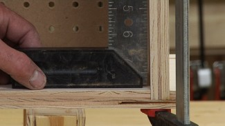 Using Clamps to Square a Cabinet