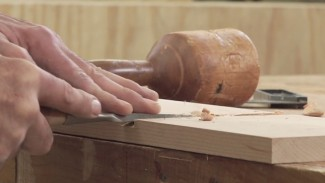 Using Hand Tools to Cut a Dado - Part 3