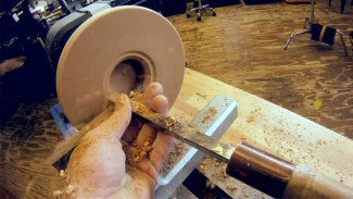 Turning a Bowl: Hollowing the Inside of a Bowl