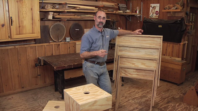 Woodworking video that shows you how to make matching Sawhorses and Stools