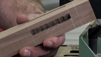 Cut a 45-Degree Mortise with a Benchtop Mortiser