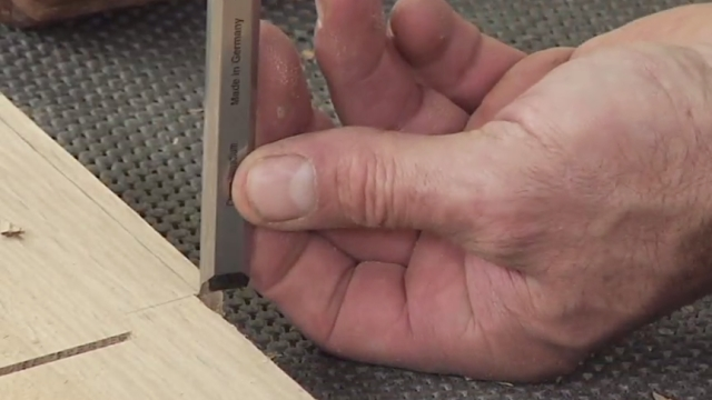 How to use a chisel hand tool to square a corner