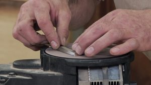 Power Lapping a Bench Chisel
