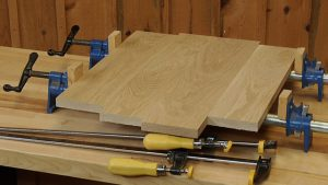 Using the Correct Clamps for Edge-to-Edge Glue Ups