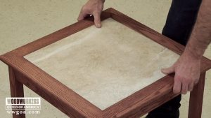 Build a Tiled Table- Part 3 Sand, Finish & Install the Tile