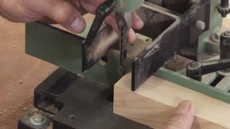 Aligning the Chisel on a Benchtop Mortiser