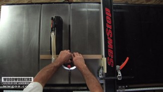 Using a Stop Block with a Table Saw Fence