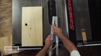 Using the Taper Guide for Cutting Angles on a Table Saw