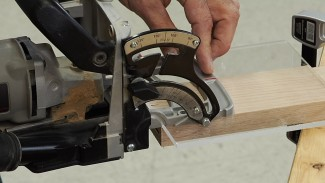 Using a Biscuit Joiner: Leg to Rail Offset