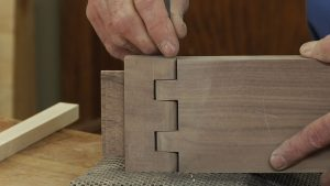 Rounding the Edges on a Wooden Hinge for a Gate Leg Table
