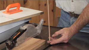 Using a Table Saw Jig to Rip Skinny Pieces of Wood